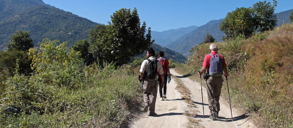 Walking in himalayas but Insider Tours