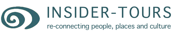 Logo and strapline for Insider Tours